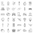 september icons set outline style vector image vector image