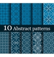 set of 10 seamless abstract patterns vector image vector image