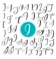 set of hand drawn calligraphy letter i vector image