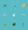 set of season icons flat style symbols with turtle vector image