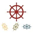 Ship wheel set Isometric vector image