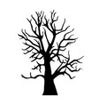 silhouette old dry wood vector image vector image