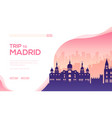 silhouette sightseeing attractions madrid vector image