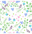 simple doodle flower pattern seamless vector image vector image