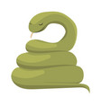 snake cartoon a green snake vector image