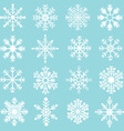 Snowflakes Silhouette set vector image vector image