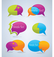 speech bubbles look like a head and face vector image vector image