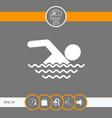 swim icon symbol vector image vector image