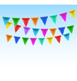 triangular bunting on rope vector image vector image
