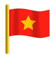 vietnam flag icon cartoon style vector image