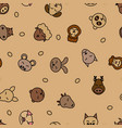 wild animals seamless pattern background vector image vector image