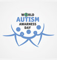 world autism vector image