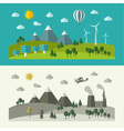 Flat design concepts for ecology vector image