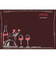 Menu card for loversLove card romantic dinner vector image