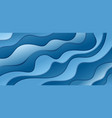 abstract blue gradient waves shape layer paper vector image