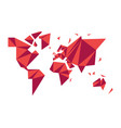 abstract low poly world map modern concept shape vector image vector image