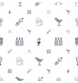 alcohol icons pattern seamless white background vector image vector image