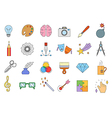 art colorful icons set vector image
