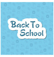 back to school flyer template with different vector image