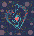background musical treble clef vector image vector image