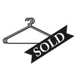 badge sold sign black icon vector image vector image