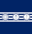 banner with sea emblems vector image vector image