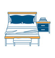 bedroom with books over nightstand with chair vector image