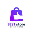 best stores logo design best shop logo icon design vector image vector image