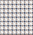 blue and gray hounds tooth seamless pattern vector image