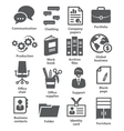 Business office icons vector image vector image