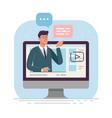 business online webinarbusinessman is vector image vector image
