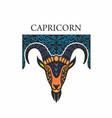 capricorn horoscope zodiac sign vector image vector image