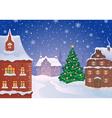 Christmas town vector image