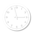 clock icon vector image vector image