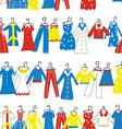 Clothes seamless pattern for tailor shop or vector image vector image