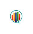 creative bar talk bubble logo vector image