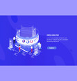 Creative web banner template with tiny people