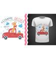 cute giraffe - idea for print t-shirt vector image vector image