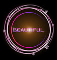 design beautiful flower glowing bright circle vector image vector image