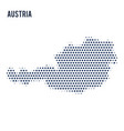 dotted map of austria isolated on white background vector image vector image