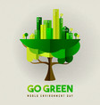 environment day card eco friendly city in tree vector image vector image