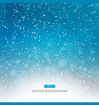 falling snow on blue background vector image