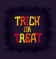 funny trick or treat banner vector image vector image