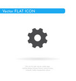 gear icon for web business finance and vector image