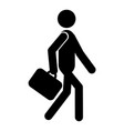 going businessman icon vector image vector image