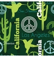 Green California Animals Travel Seamless vector image