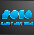happy new year 2018 card modern design template vector image