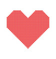 heart with halftone effect vector image