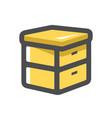 hive beekeeping apiary icon cartoon vector image