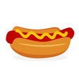 hot dog icon fastfood isolated sweet food and vector image vector image